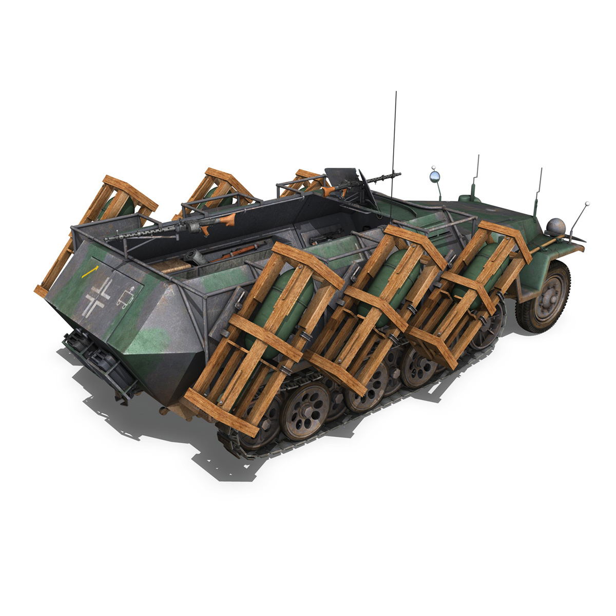 sd.kfz 251/1 ausf.c – ground stuka – 24pd 3d model 3ds fbx c4d lwo obj 292203
