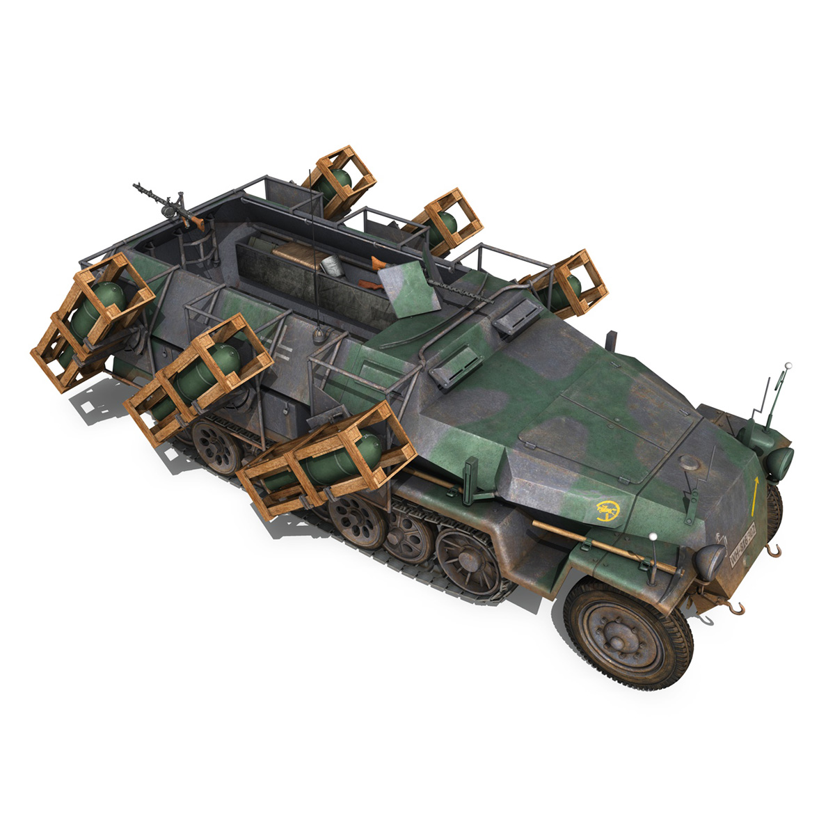 sd.kfz 251/1 ausf.c – ground stuka – 24pd 3d model 3ds fbx c4d lwo obj 292205