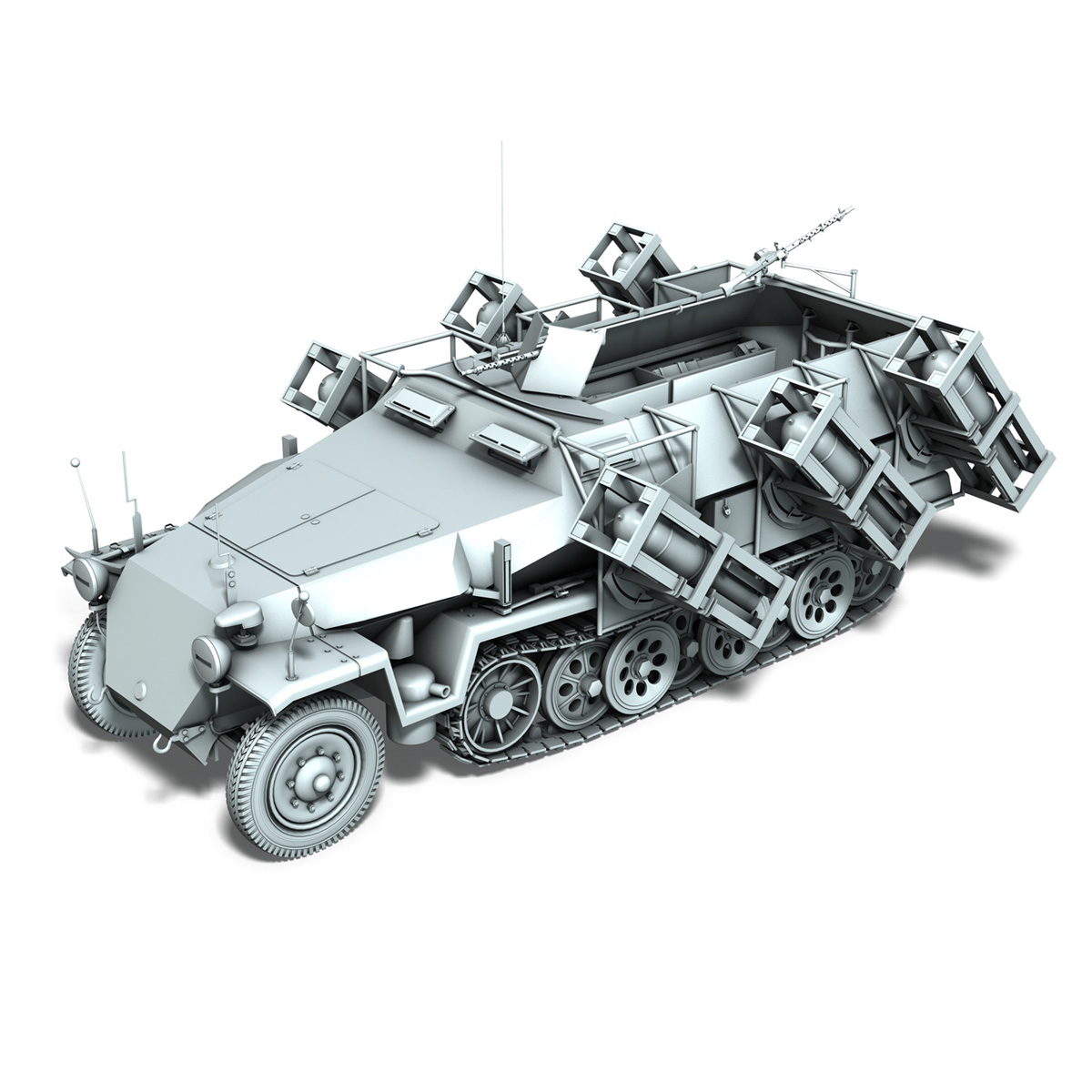 sd.kfz 251/1 ausf.c – ground stuka – 24pd 3d model 3ds fbx c4d lwo obj 292209