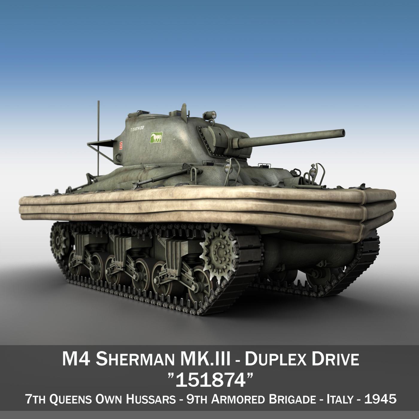 m4 sherman mk.iii - divpusējā piedziņa 3d modelis 3ds fbx c4d lwo obj 292662