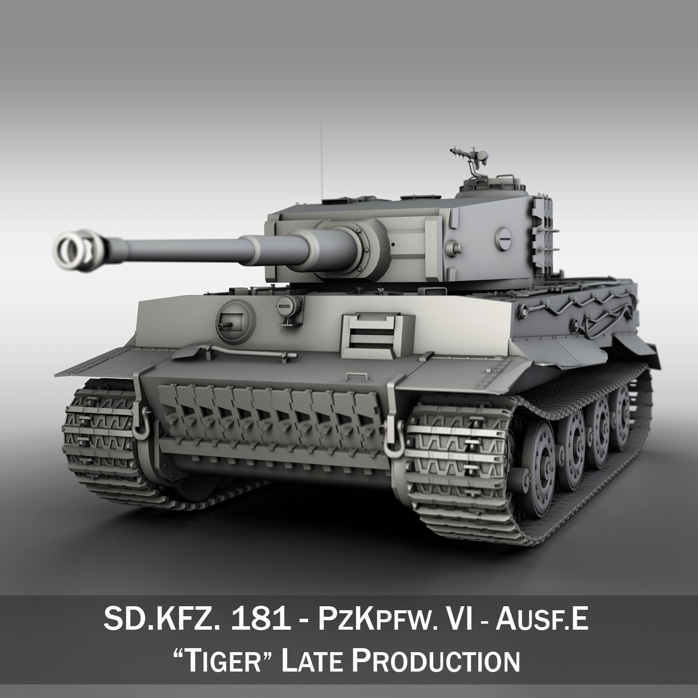 Panzer VI - Tiger - Late Production 3d model 3ds fbx c4d lwo obj 292946