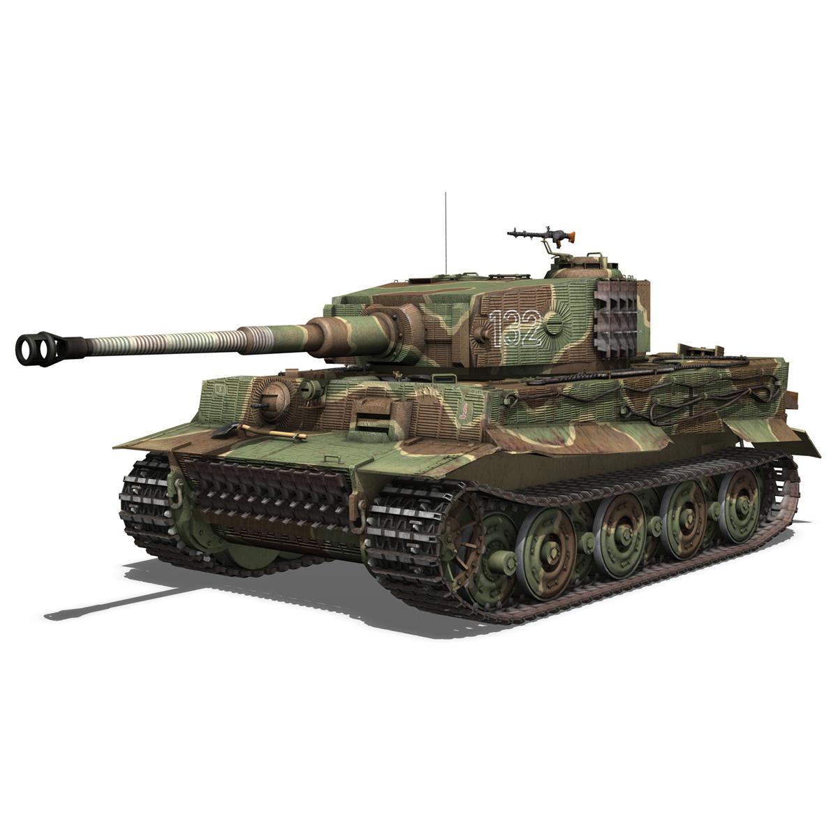 panzer vi – tiger – 132 – late production 3d model 3ds fbx c4d lwo obj 292966