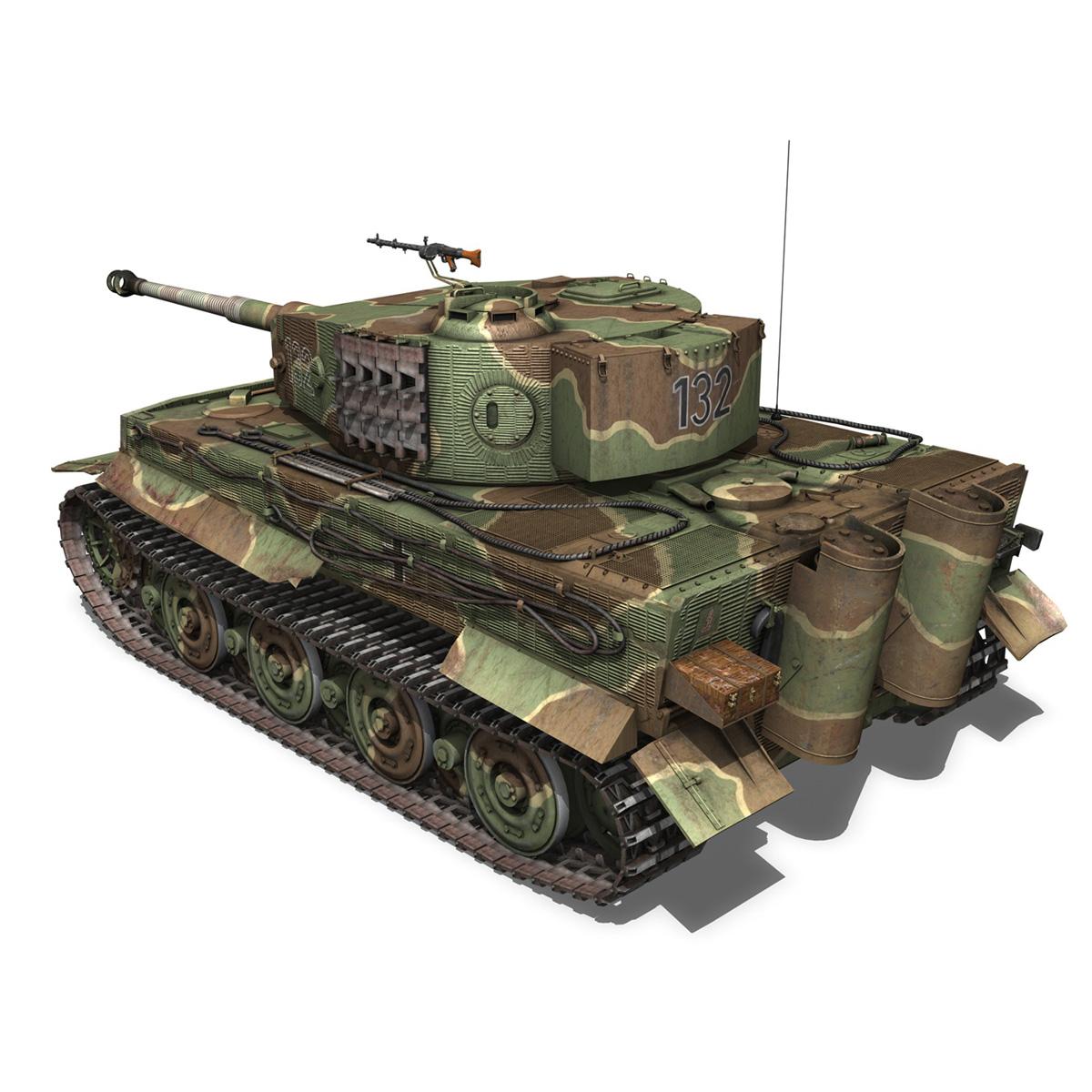 panzer vi – tiger – 132 – late production 3d model 3ds fbx c4d lwo obj 292968