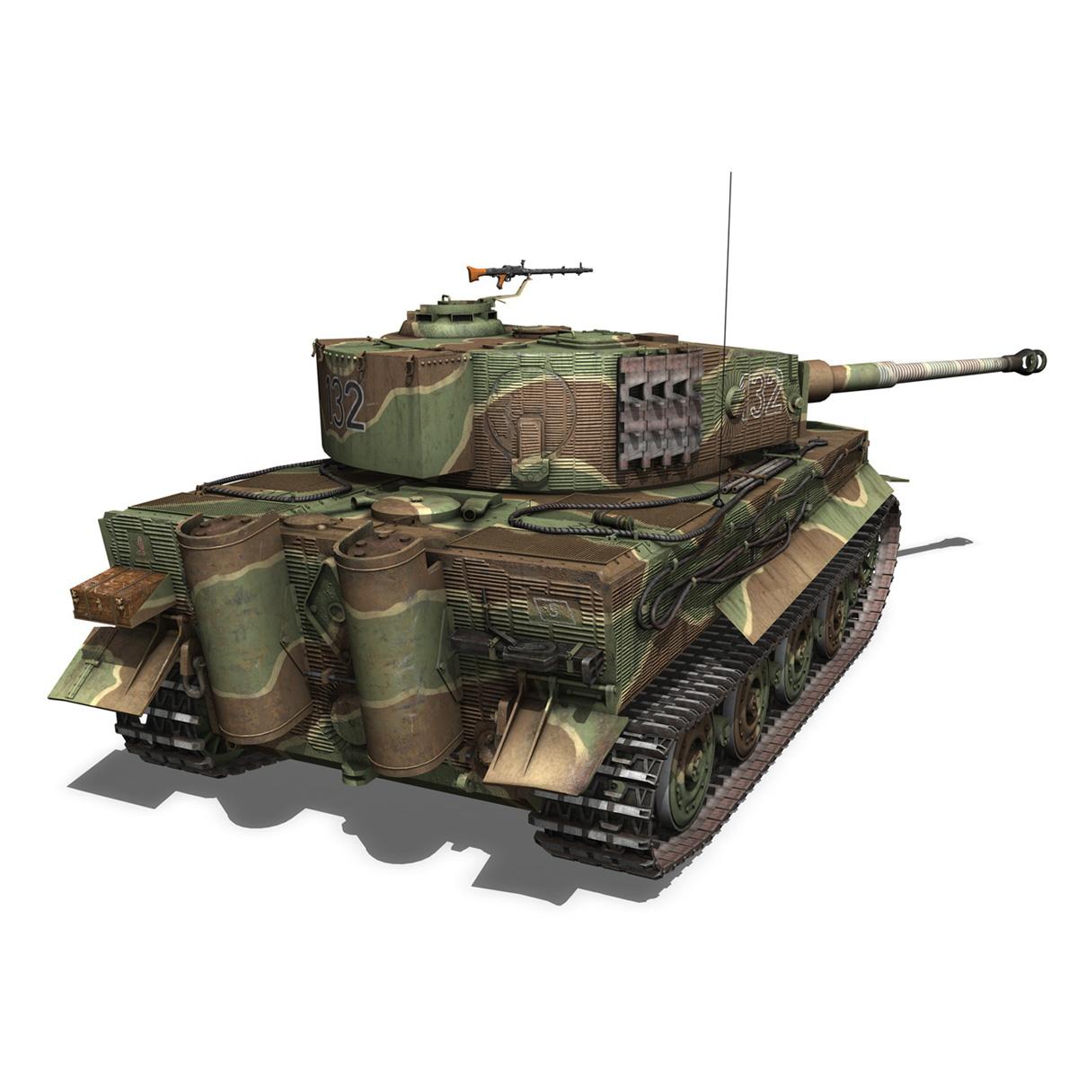 panzer vi – tiger – 132 – late production 3d model 3ds fbx c4d lwo obj 292969
