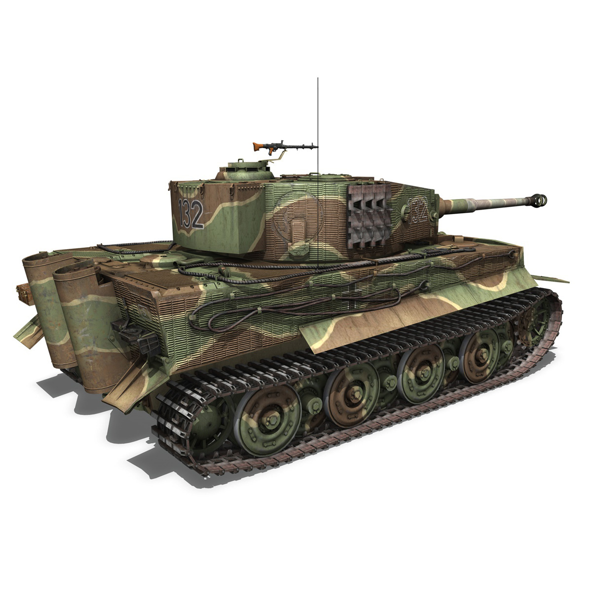 panzer vi – tiger – 132 – late production 3d model 3ds fbx c4d lwo obj 292970