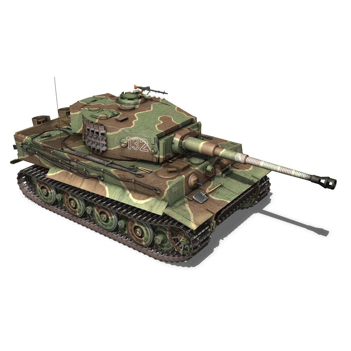 panzer vi – tiger – 132 – late production 3d model 3ds fbx c4d lwo obj 292971