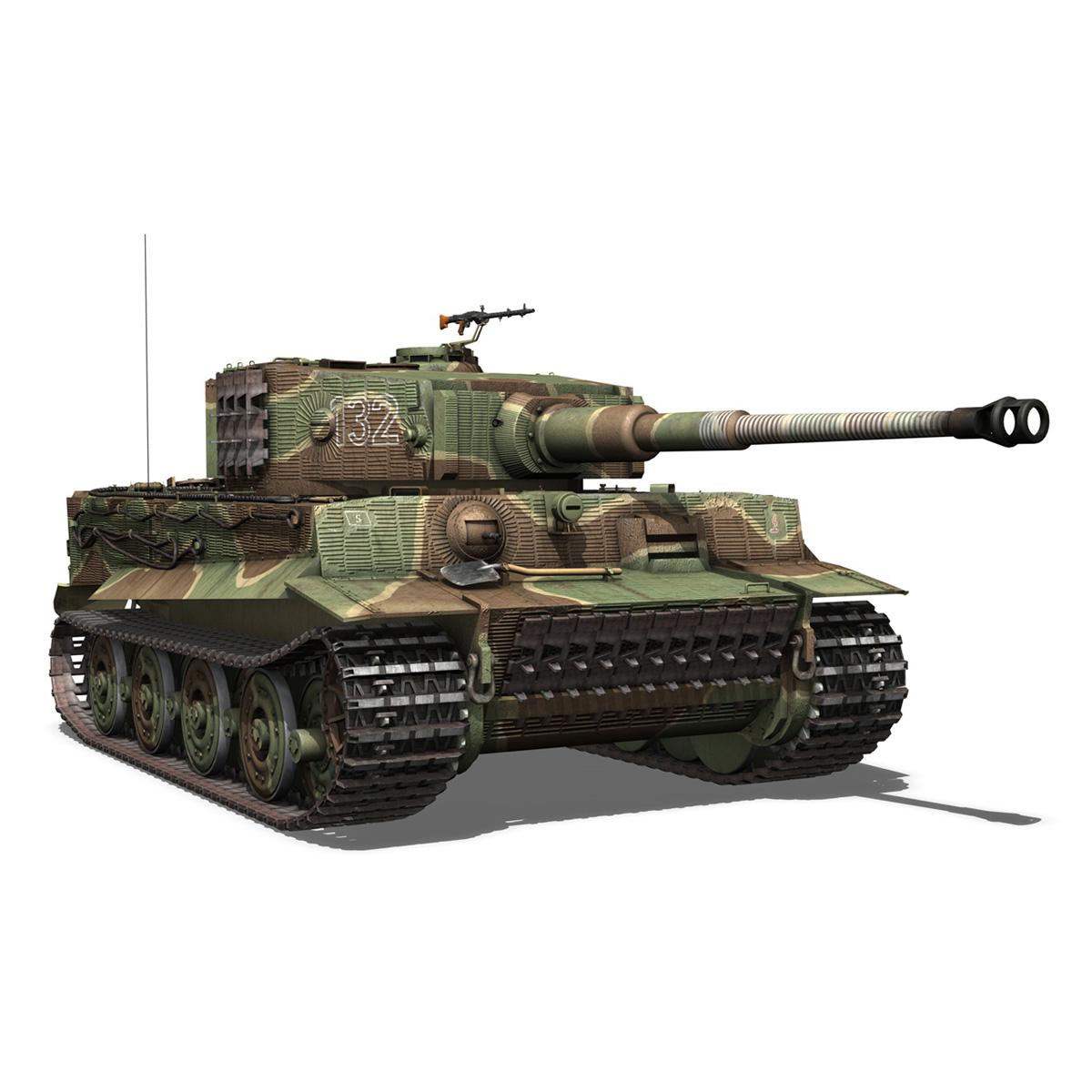 panzer vi – tiger – 132 – late production 3d model 3ds fbx c4d lwo obj 292972