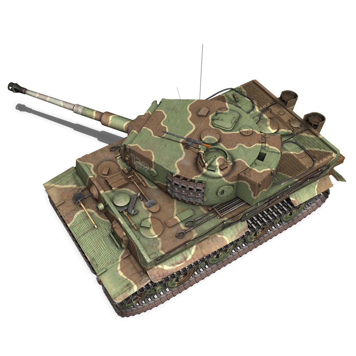 panzer vi – tiger – 132 – late production 3d model 3ds fbx c4d lwo obj 292973