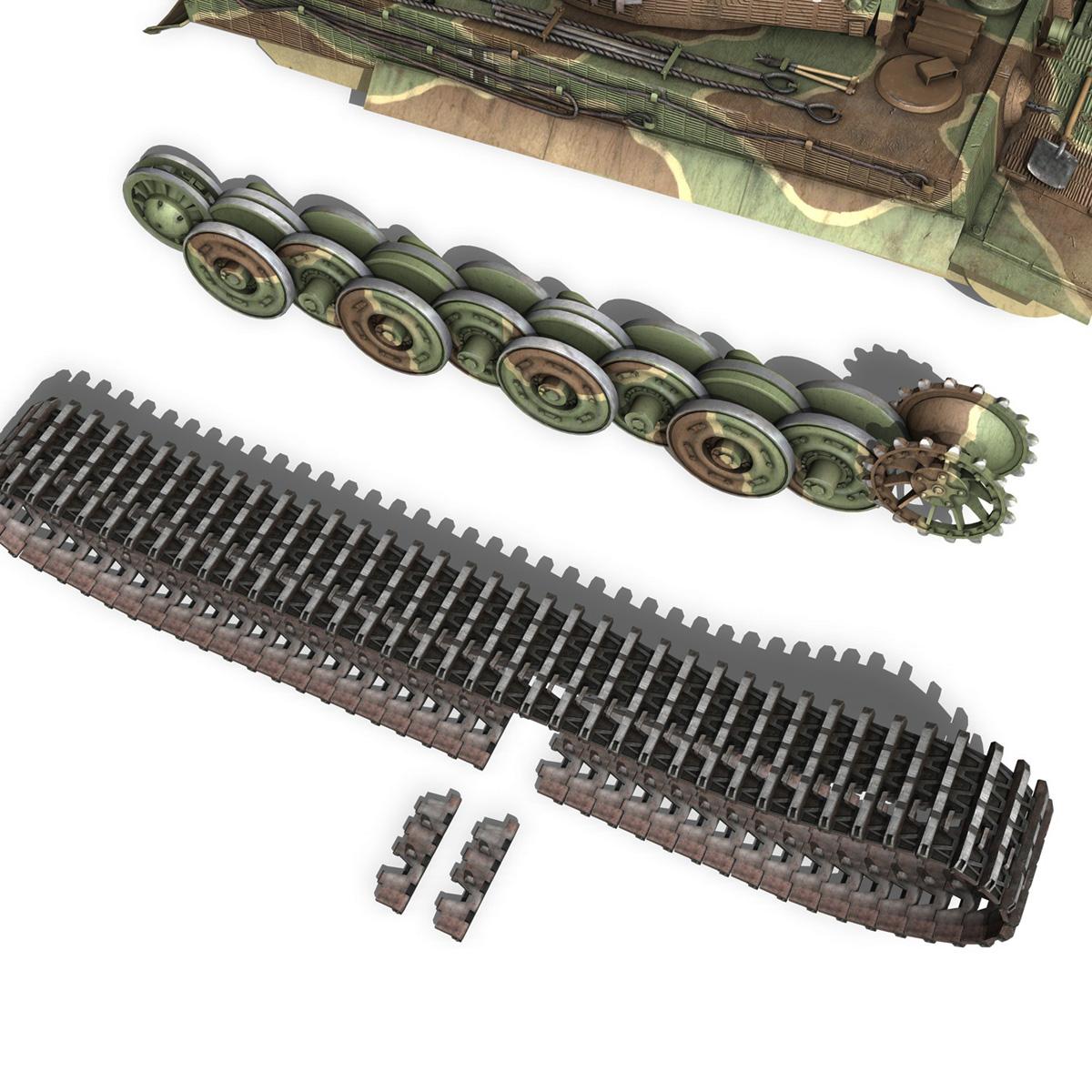 panzer vi – tiger – 132 – late production 3d model 3ds fbx c4d lwo obj 292974