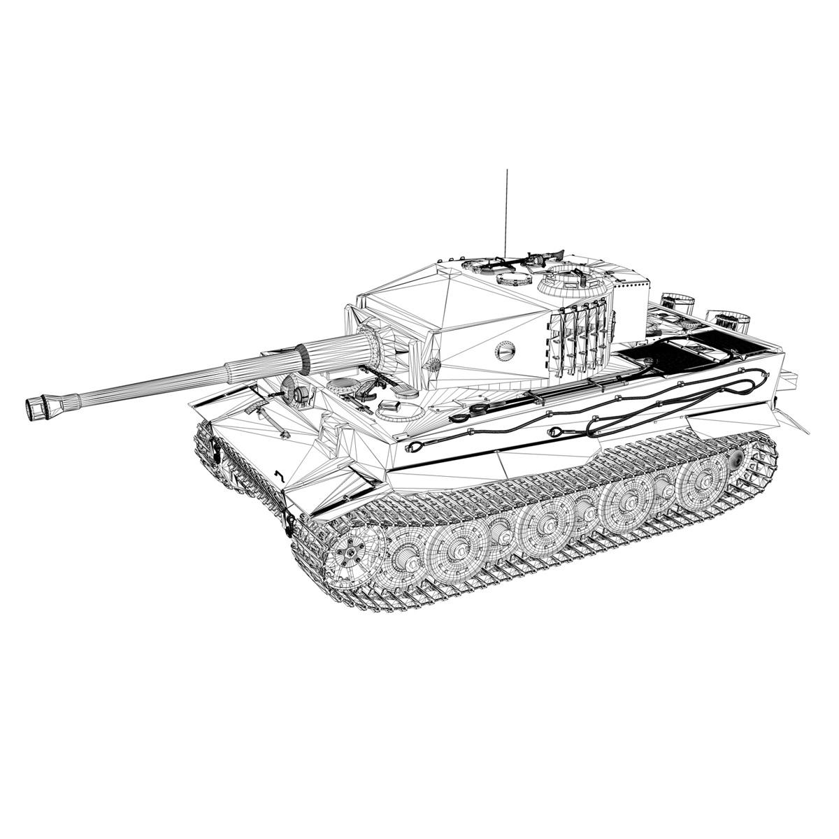 panzer vi – tiger – 132 – late production 3d model 3ds fbx c4d lwo obj 292975