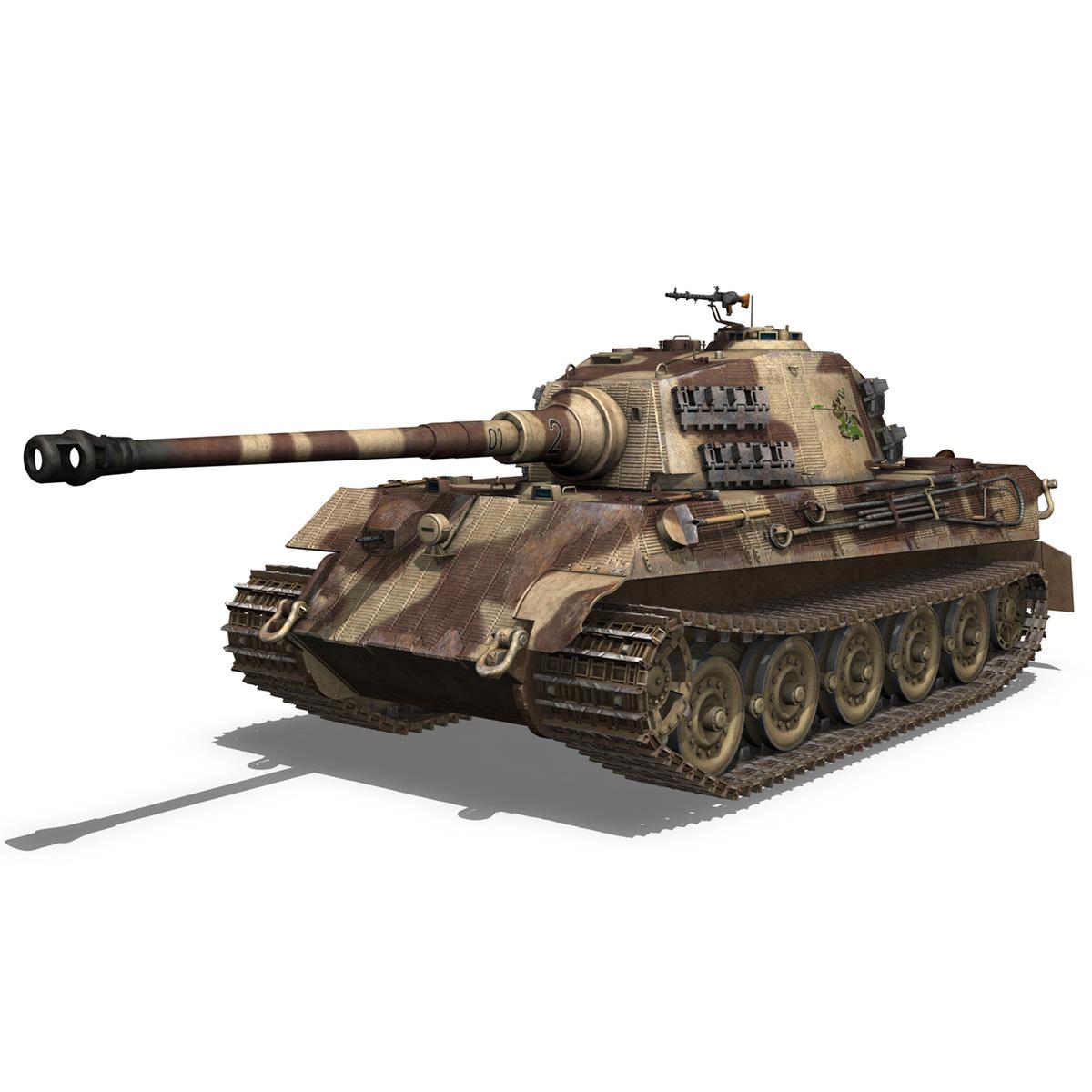 panzerkampfwagen vi – ausf b – tiger ii – 201 3d model 3ds c4d lwo lw lws obj 293302