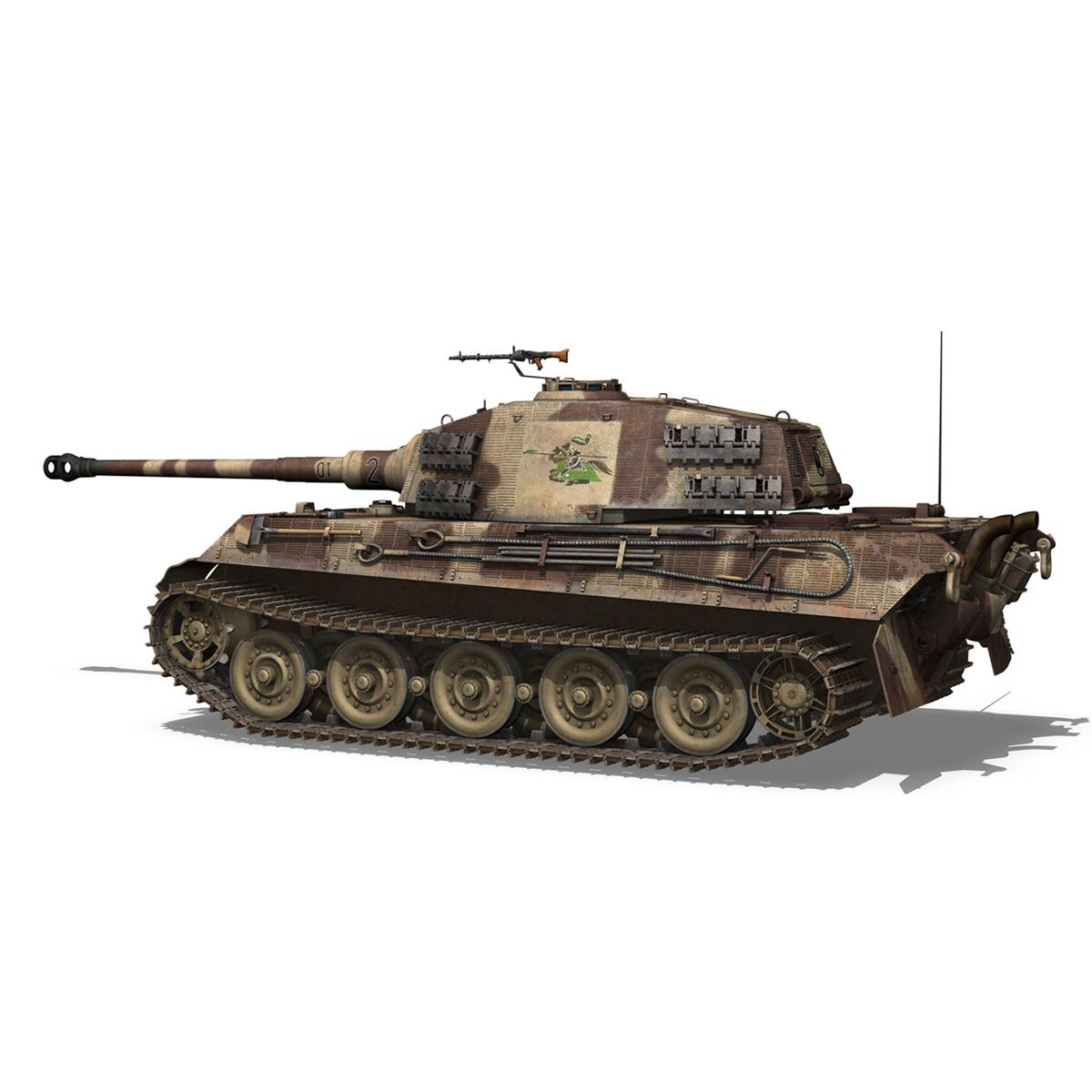 panzerkampfwagen vi – ausf b – tiger ii – 201 3d model 3ds c4d lwo lw lws obj 293304