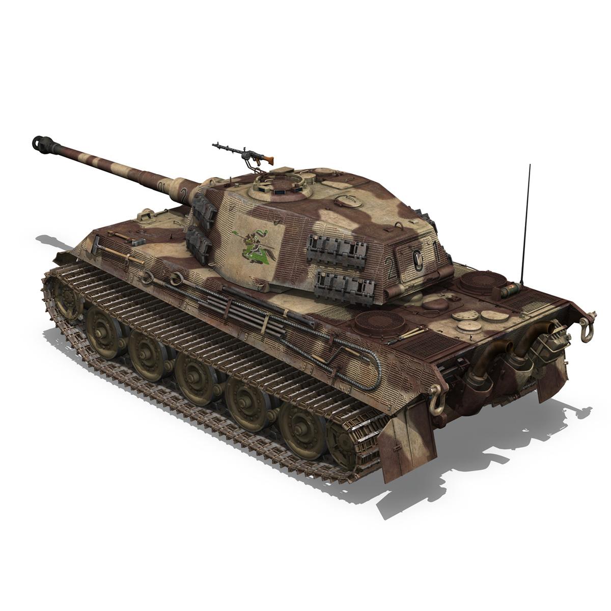 panzerkampfwagen vi – ausf b – tiger ii – 201 3d model 3ds c4d lwo lw lws obj 293305