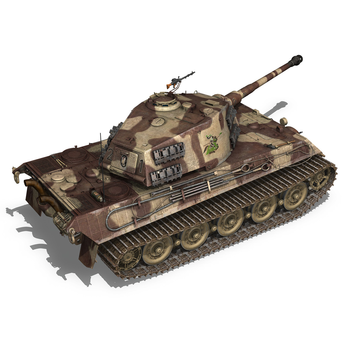 panzerkampfwagen vi – ausf b – tiger ii – 201 3d model 3ds c4d lwo lw lws obj 293307