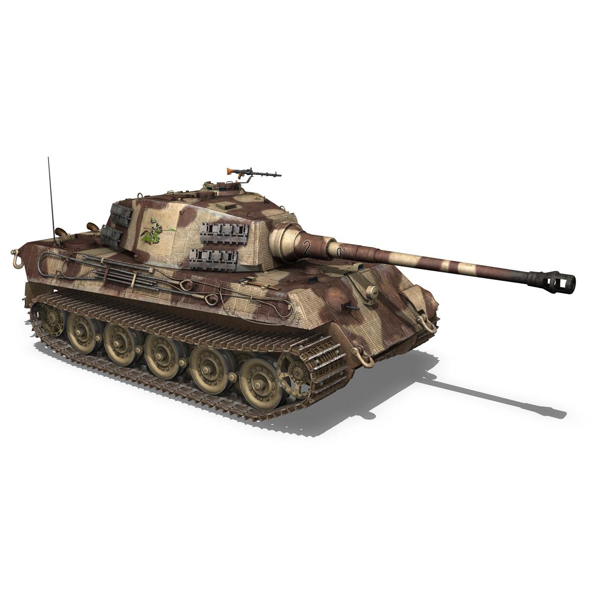 panzerkampfwagen vi – ausf b – tiger ii – 201 3d model 3ds c4d lwo lw lws obj 293308