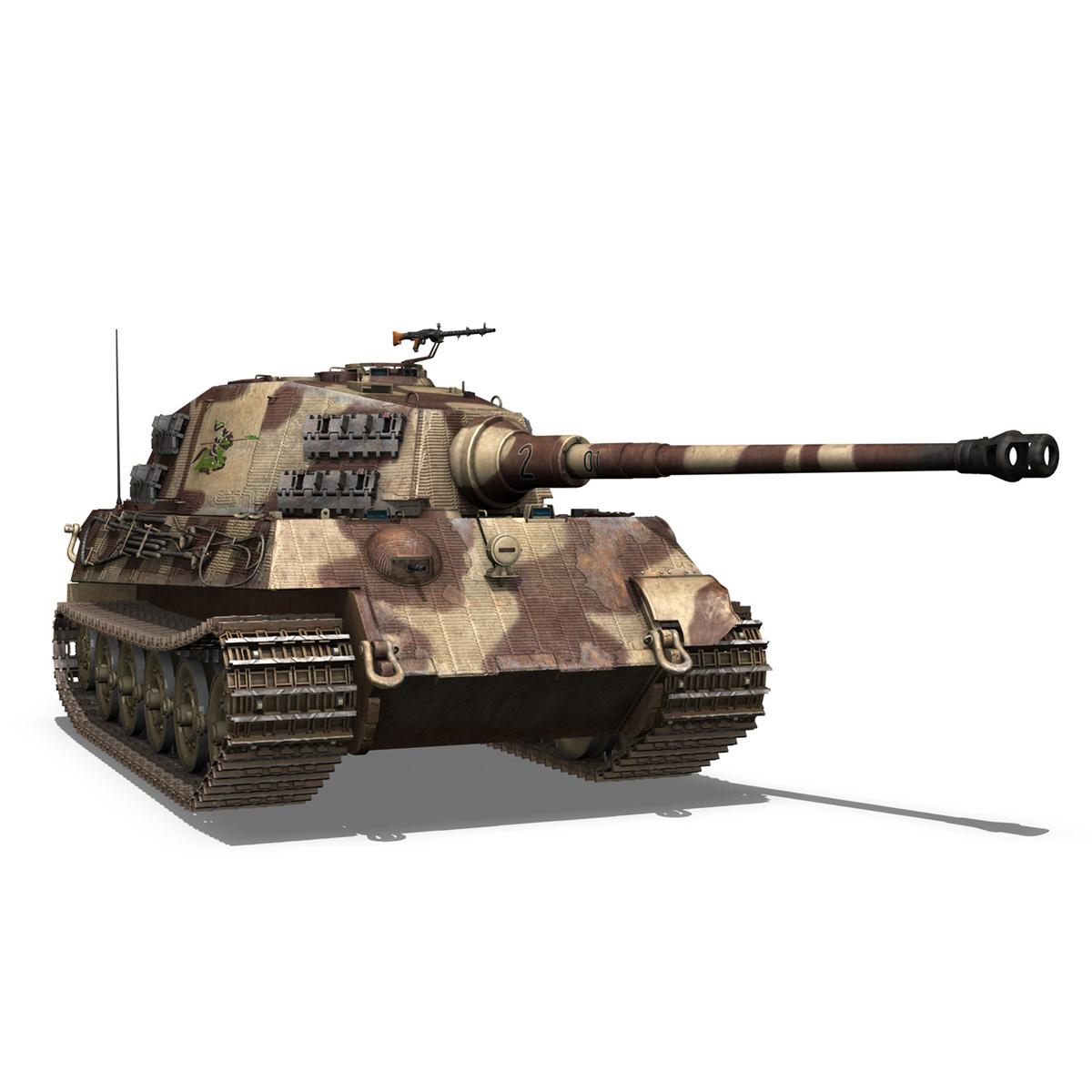panzerkampfwagen vi – ausf b – tiger ii – 201 3d model 3ds c4d lwo lw lws obj 293309