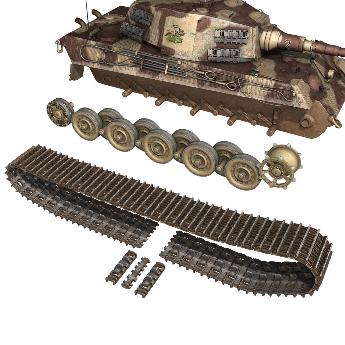 panzerkampfwagen vi – ausf b – tiger ii – 201 3d model 3ds c4d lwo lw lws obj 293311