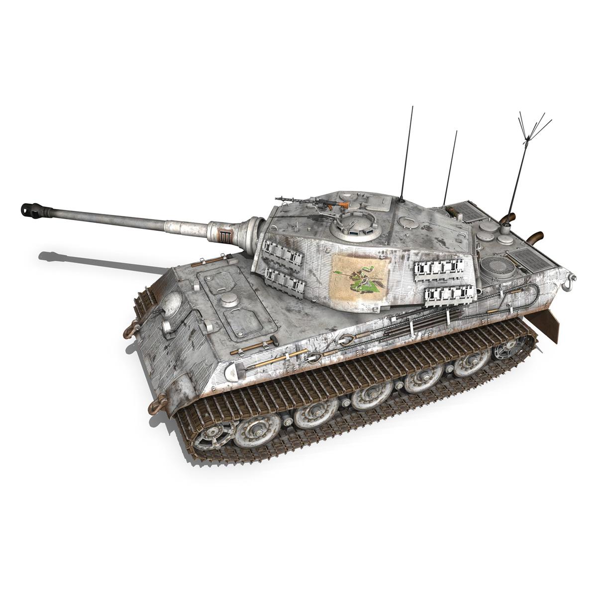 panzerbefehlswagen tiger – ausf b – iii 3d model 3ds c4d lwo lw lws obj 293321