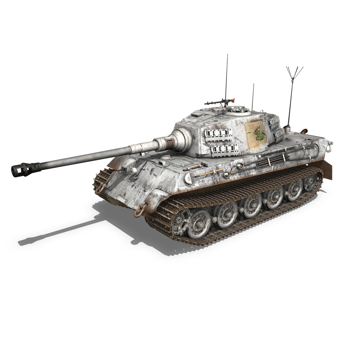 panzerbefehlswagen tiger – ausf b – iii 3d model 3ds c4d lwo lw lws obj 293323