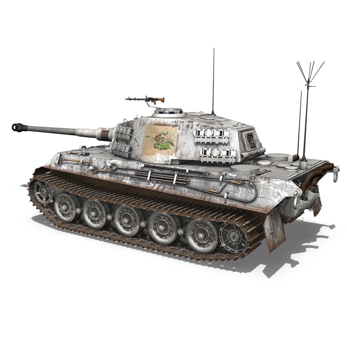 panzerbefehlswagen tiger – ausf b – iii 3d model 3ds c4d lwo lw lws obj 293324