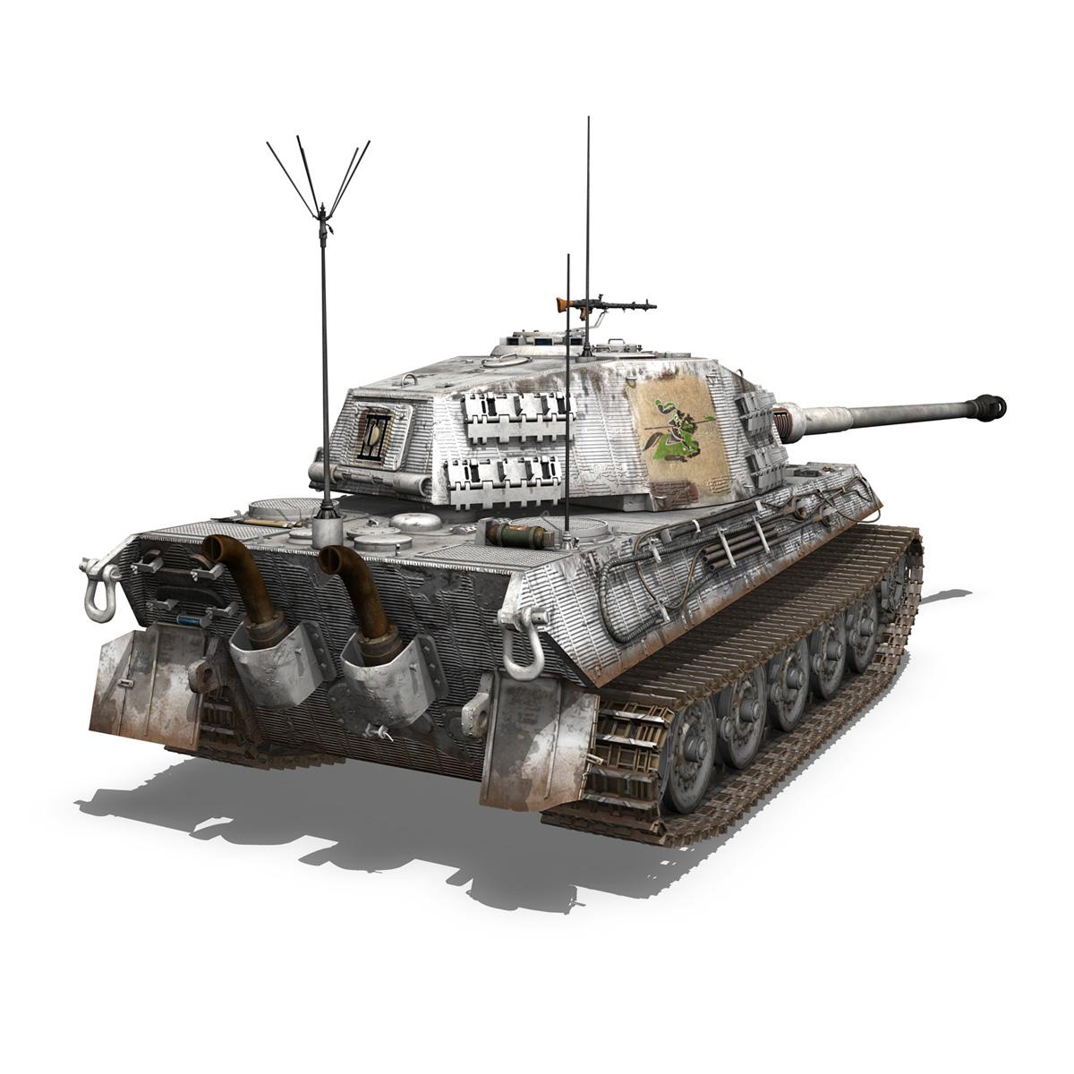panzerbefehlswagen tiger – ausf b – iii 3d model 3ds c4d lwo lw lws obj 293325
