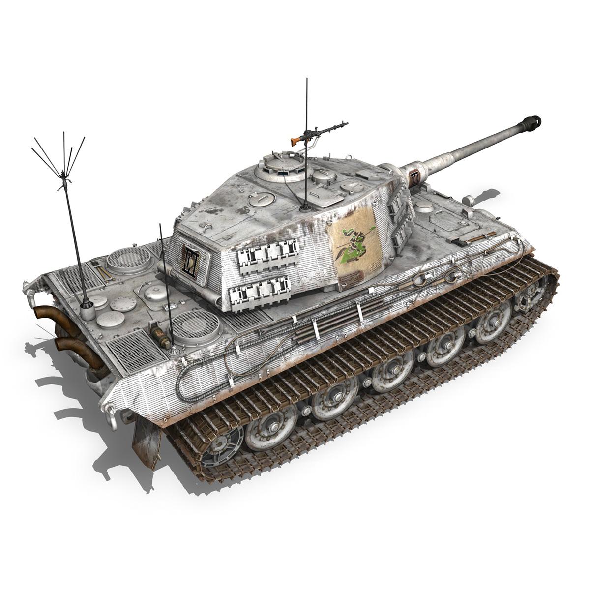 panzerbefehlswagen tiger – ausf b – iii 3d model 3ds c4d lwo lw lws obj 293326