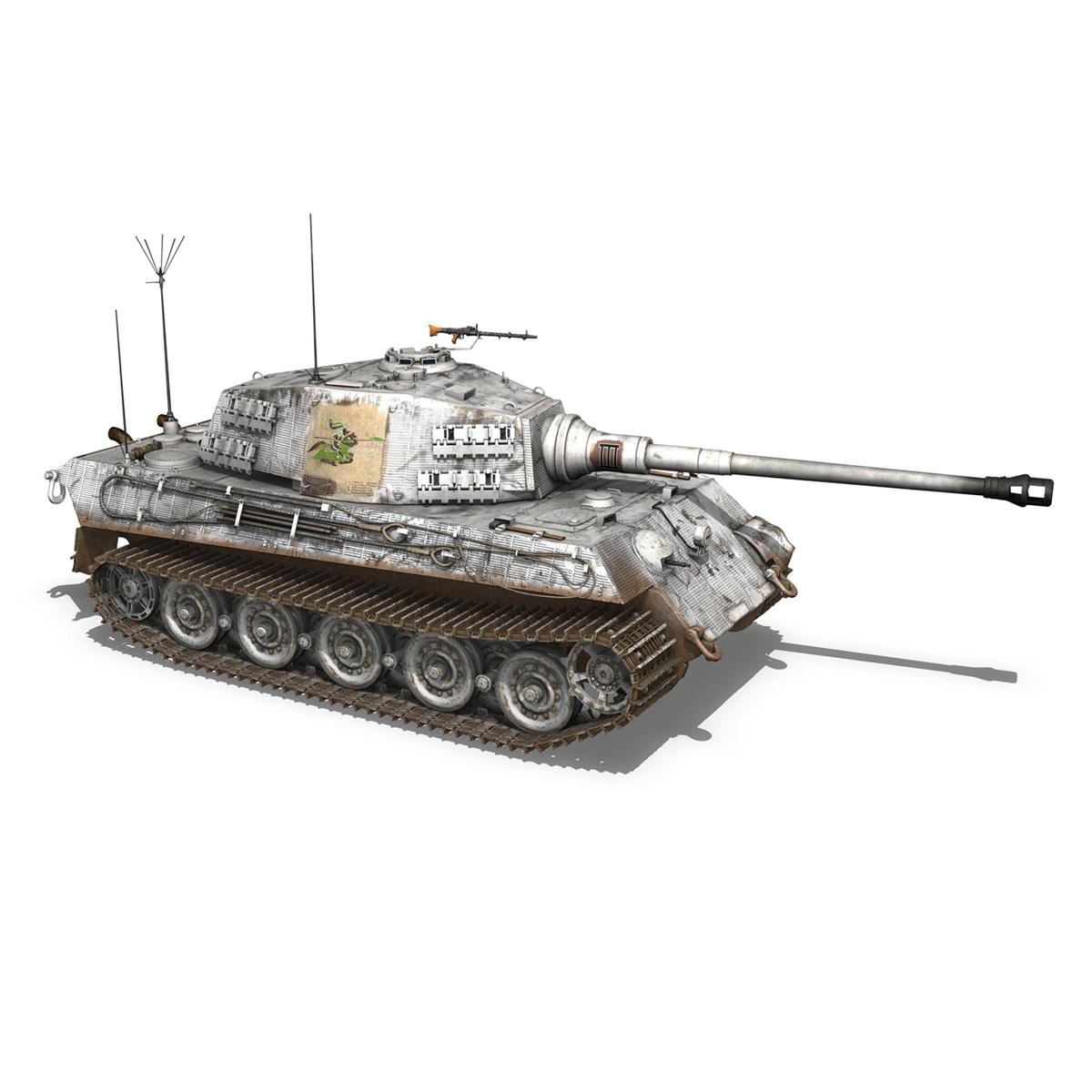 panzerbefehlswagen tiger – ausf b – iii 3d model 3ds c4d lwo lw lws obj 293327
