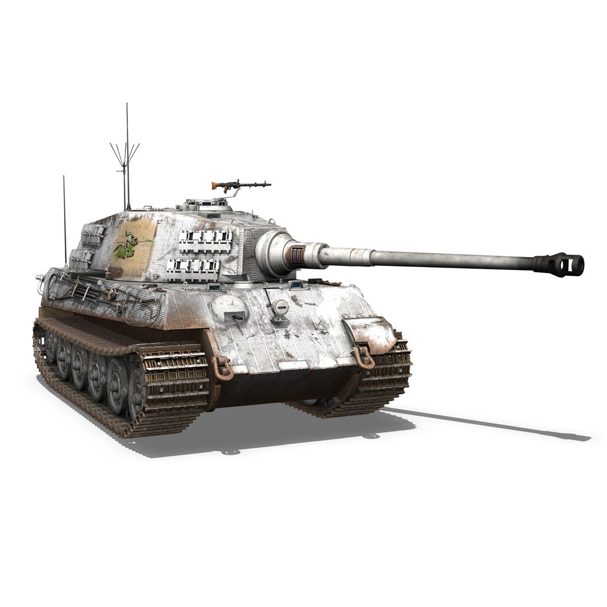 panzerbefehlswagen tiger – ausf b – iii 3d model 3ds c4d lwo lw lws obj 293328