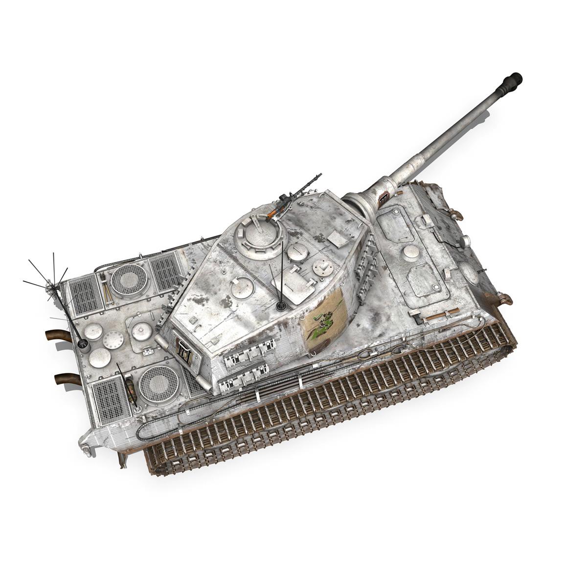 panzerbefehlswagen tiger – ausf b – iii 3d model 3ds c4d lwo lw lws obj 293329
