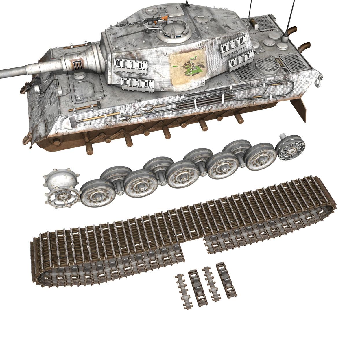 panzerbefehlswagen tiger – ausf b – iii 3d model 3ds c4d lwo lw lws obj 293330