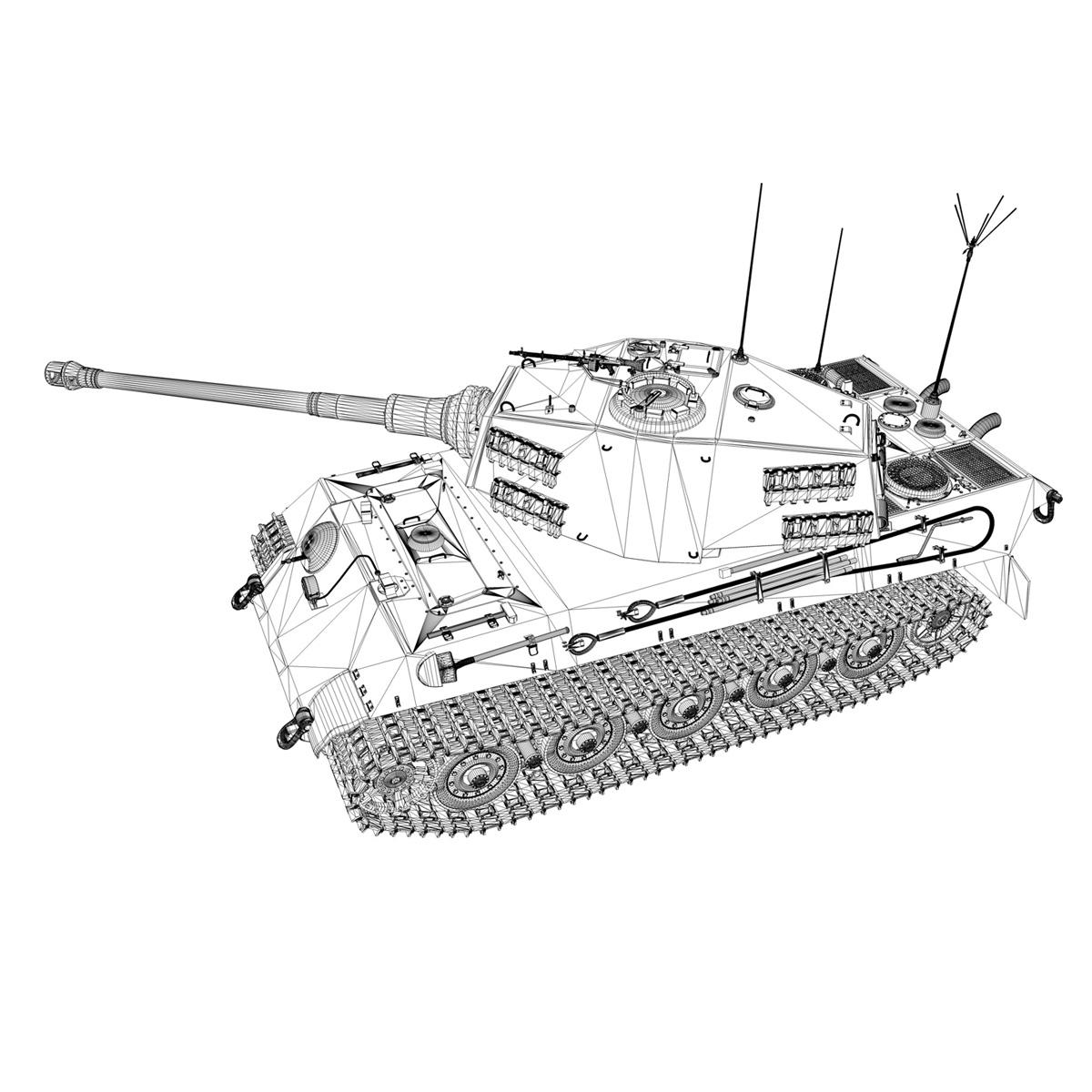 panzerbefehlswagen tiger – ausf b – iii 3d model 3ds c4d lwo lw lws obj 293331