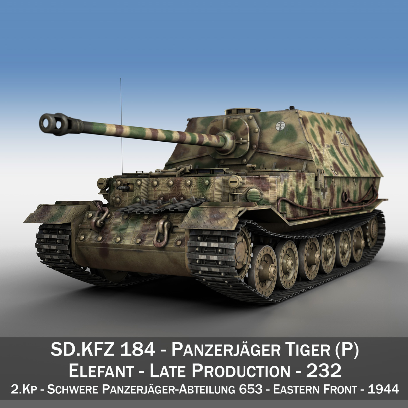Elefant Tank destroyer - Tiger (P) - 232 3d model 3ds fbx c4d lwo lws lw obj 293339