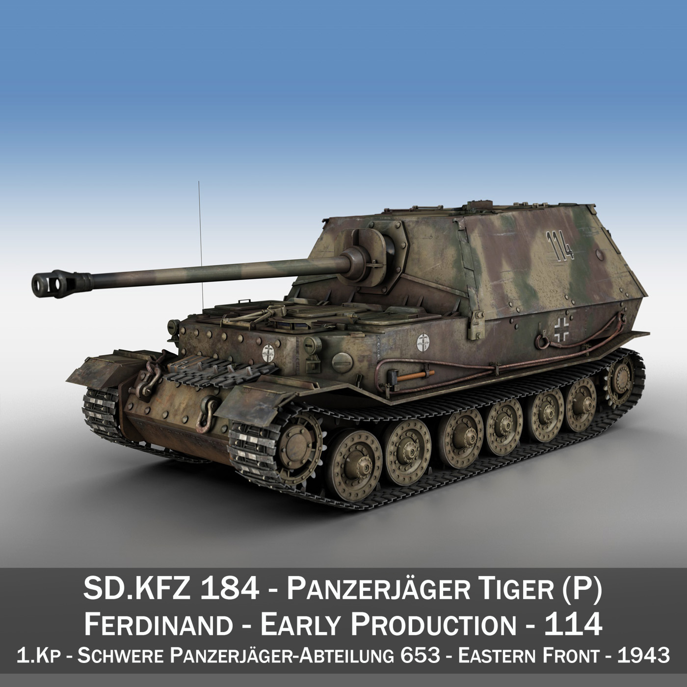ferdinand tank destroyer – tiger (p) – 114 3d model 3ds fbx c4d lwo obj 293358