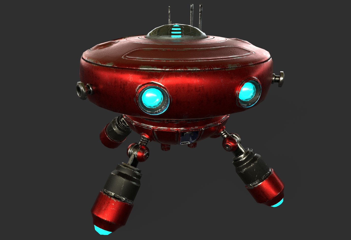 robot boc662 Model 3d 3ds max 3ds project fbx obj 293431