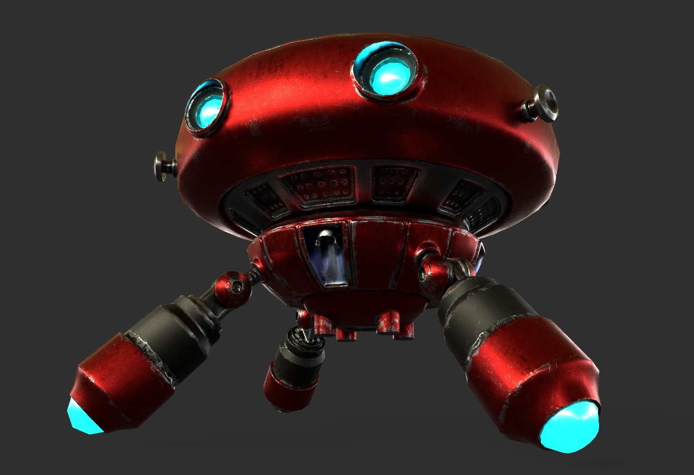 robot boc662 3d model 3ds max 3ds project fbx obj 293432