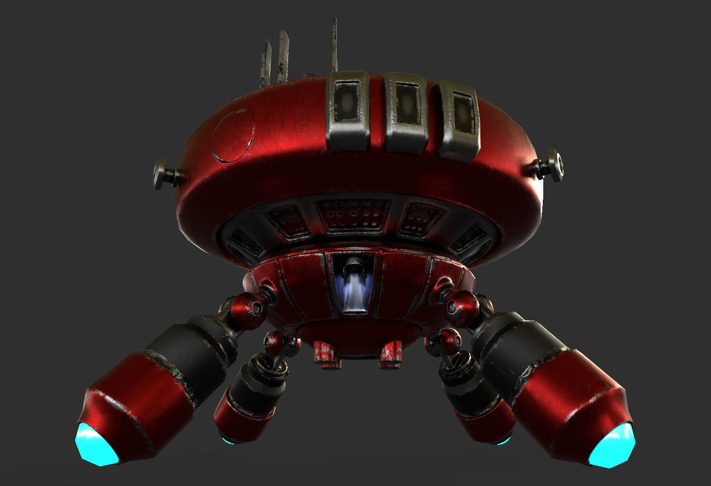 robot boc662 3d model 3ds max 3ds project fbx obj 293434