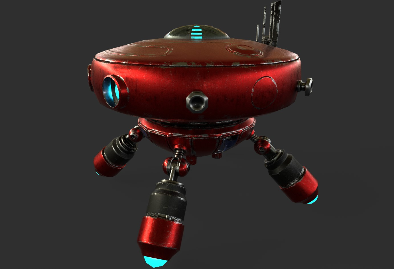 robot boc662 3d model 3ds max 3ds project fbx obj 293436