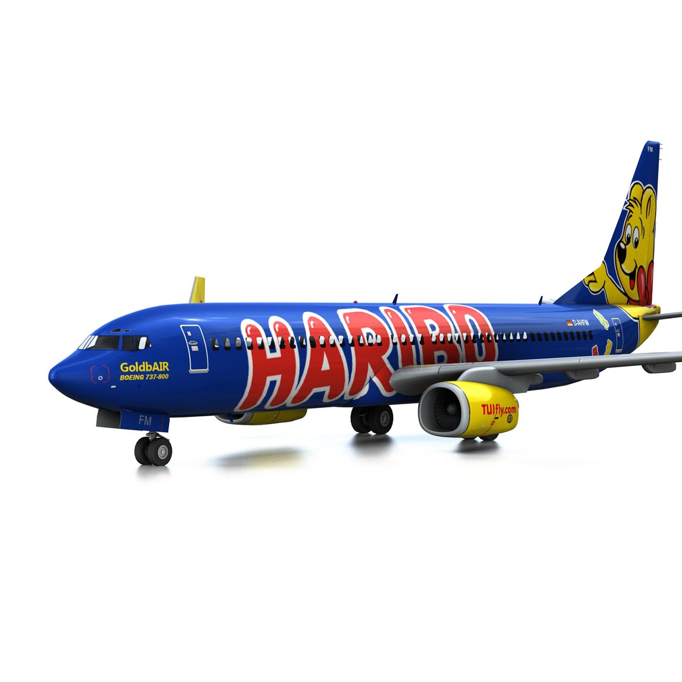 boeing 737-800 goldbair 3d model 3ds fbx c4d lwo obj 293493