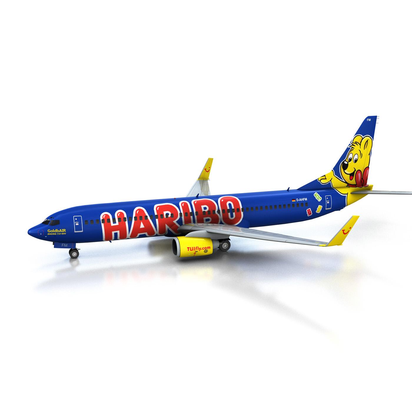 boeing 737-800 goldbair 3d model 3ds fbx c4d lwo obj 293494