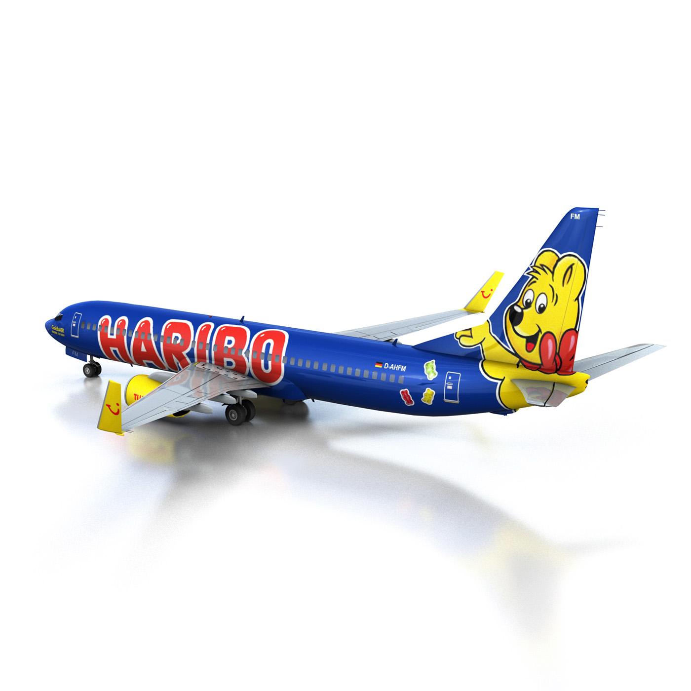 boeing 737-800 goldbair 3d model 3ds fbx c4d lwo obj 293495