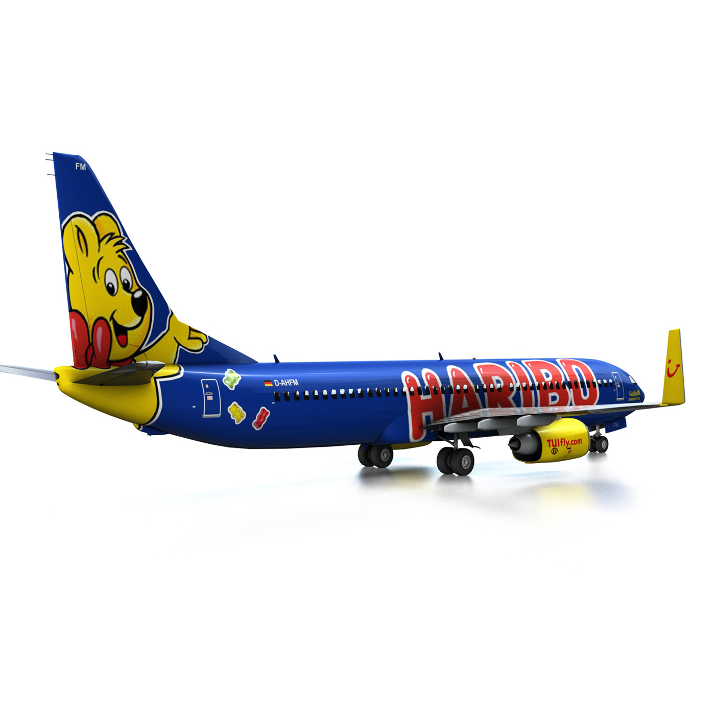 boeing 737-800 goldbair 3d model 3ds fbx c4d lwo obj 293497