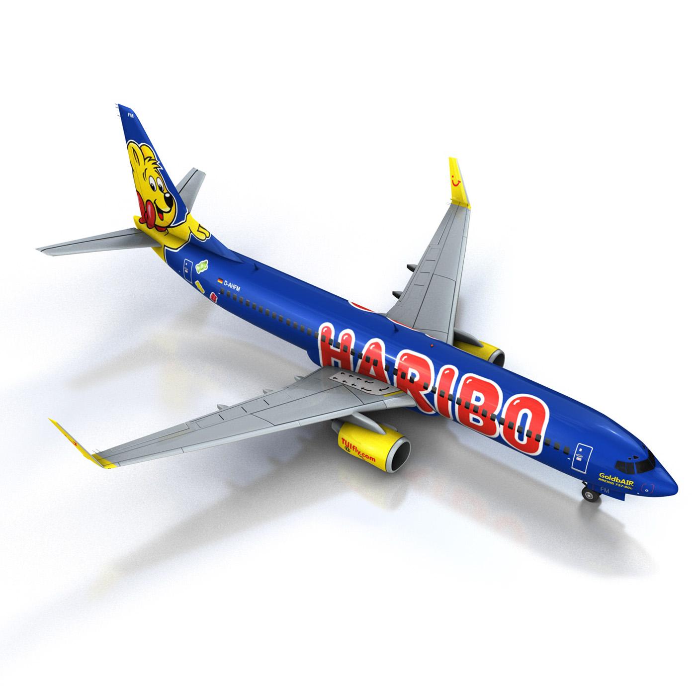 boeing 737-800 goldbair 3d model 3ds fbx c4d lwo obj 293498