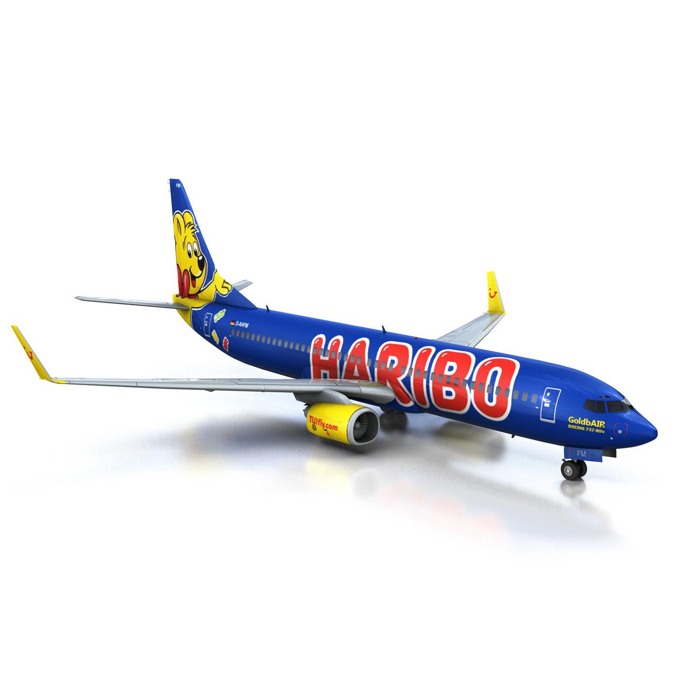 boeing 737-800 goldbair 3d model 3ds fbx c4d lwo obj 293499