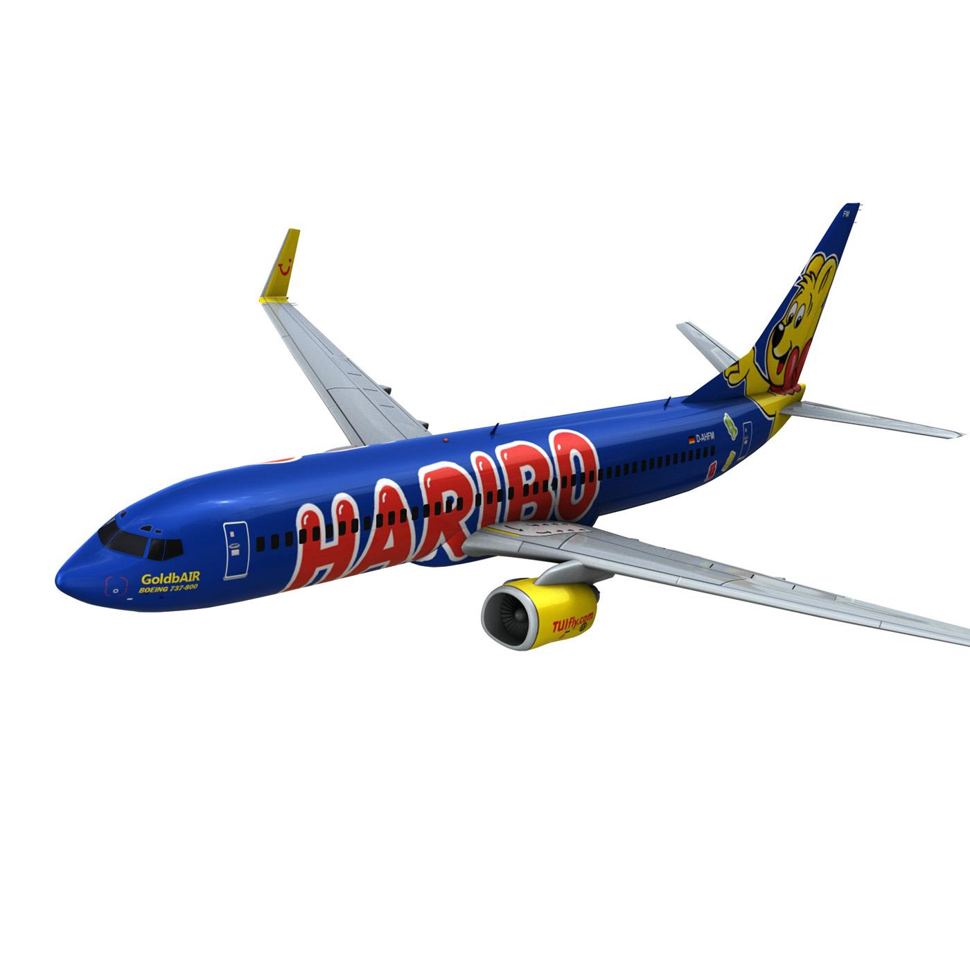boeing 737-800 goldbair 3d model 3ds fbx c4d lwo obj 293500