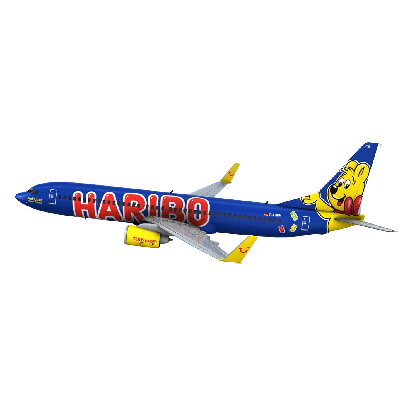 boeing 737-800 goldbair 3d model 3ds fbx c4d lwo obj 293501