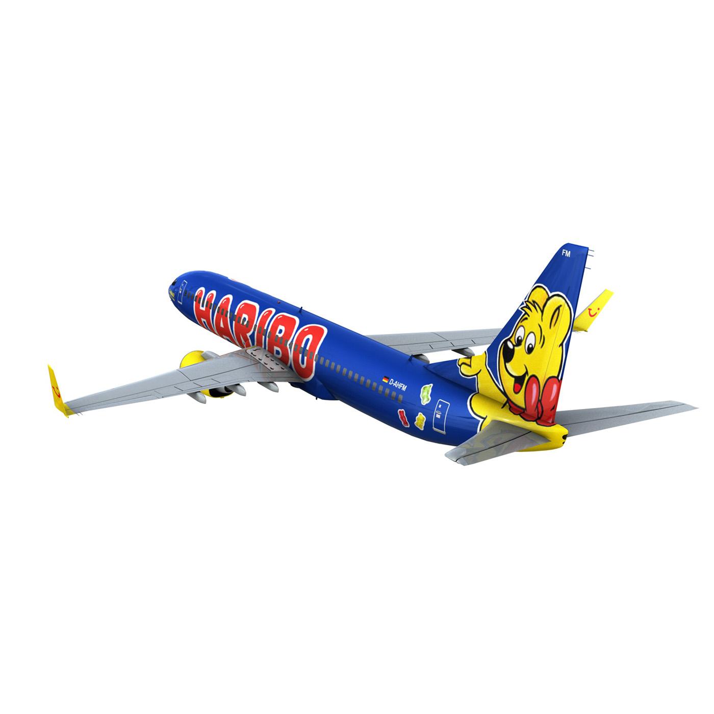 boeing 737-800 goldbair 3d model 3ds fbx c4d lwo obj 293502