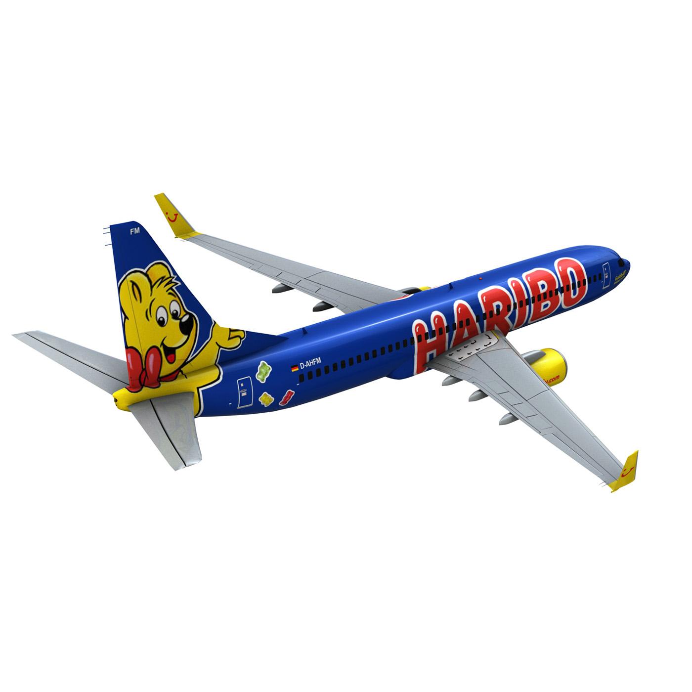boeing 737-800 goldbair 3d model 3ds fbx c4d lwo obj 293503