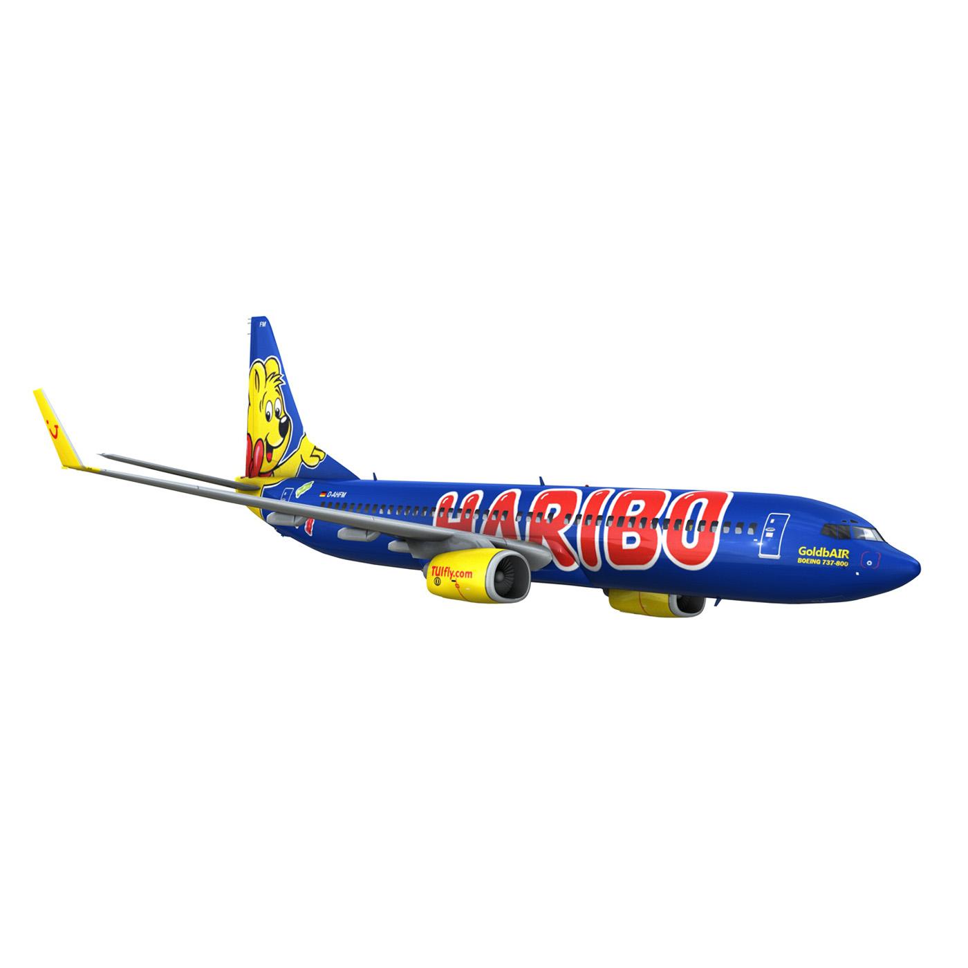 boeing 737-800 goldbair 3d model 3ds fbx c4d lwo obj 293505
