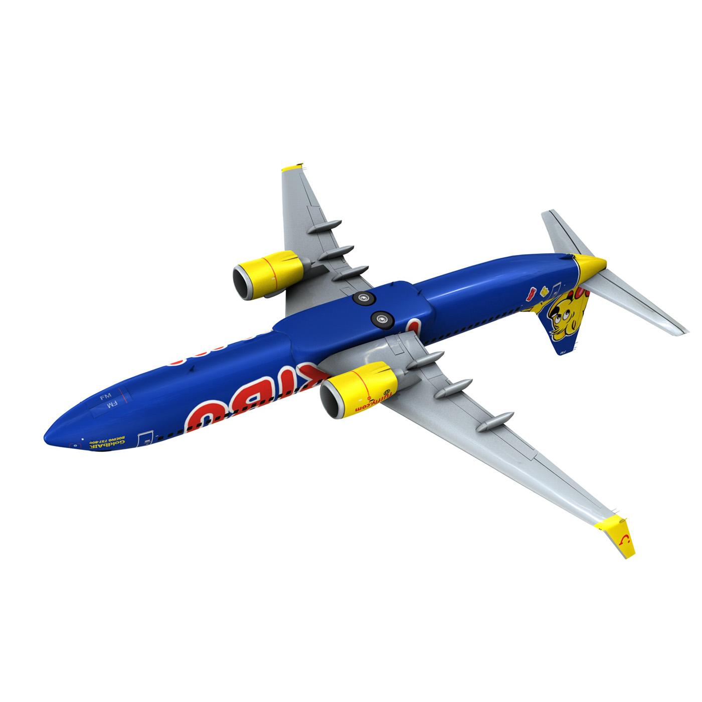boeing 737-800 goldbair 3d model 3ds fbx c4d lwo obj 293506