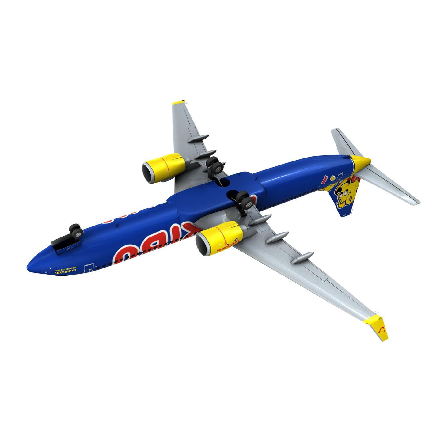 boeing 737-800 goldbair 3d model 3ds fbx c4d lwo obj 293507